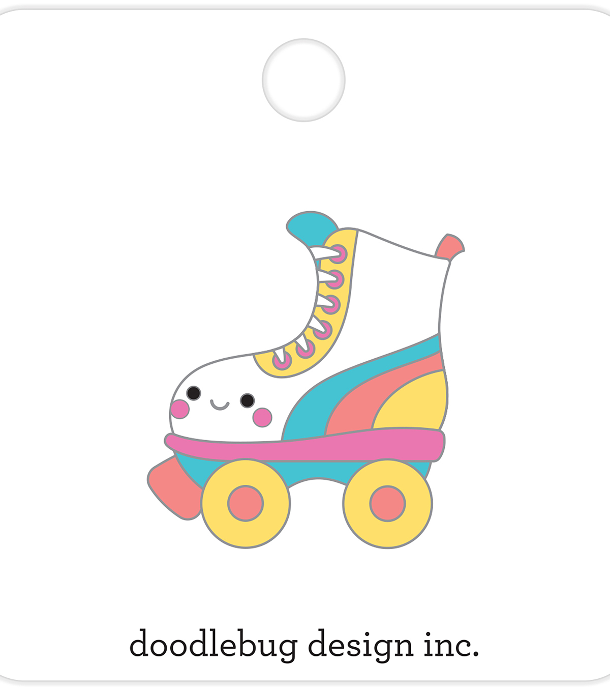 Doodlebug Design Collectible Enamel Pin-Let\u0027s Skate