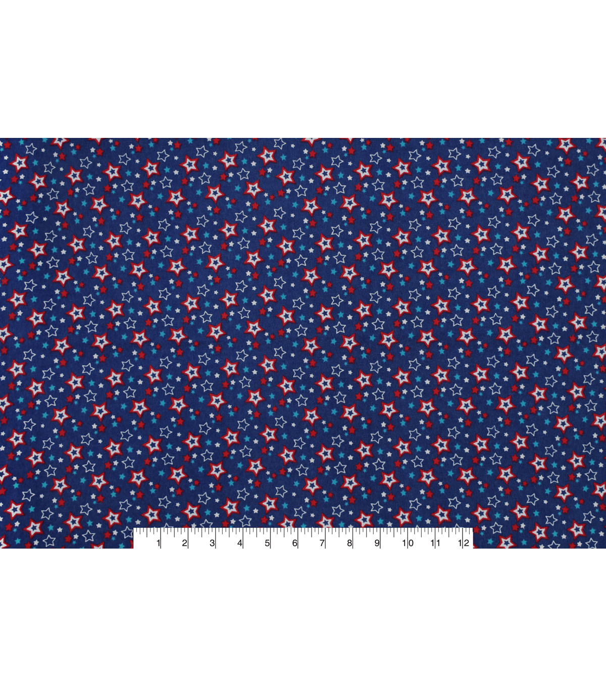 Snuggle Flannel Fabric -Independence Day Stars
