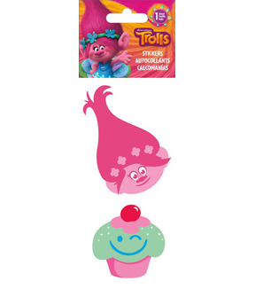 Trolls 2 pk Embroidered Stickers-Poppy