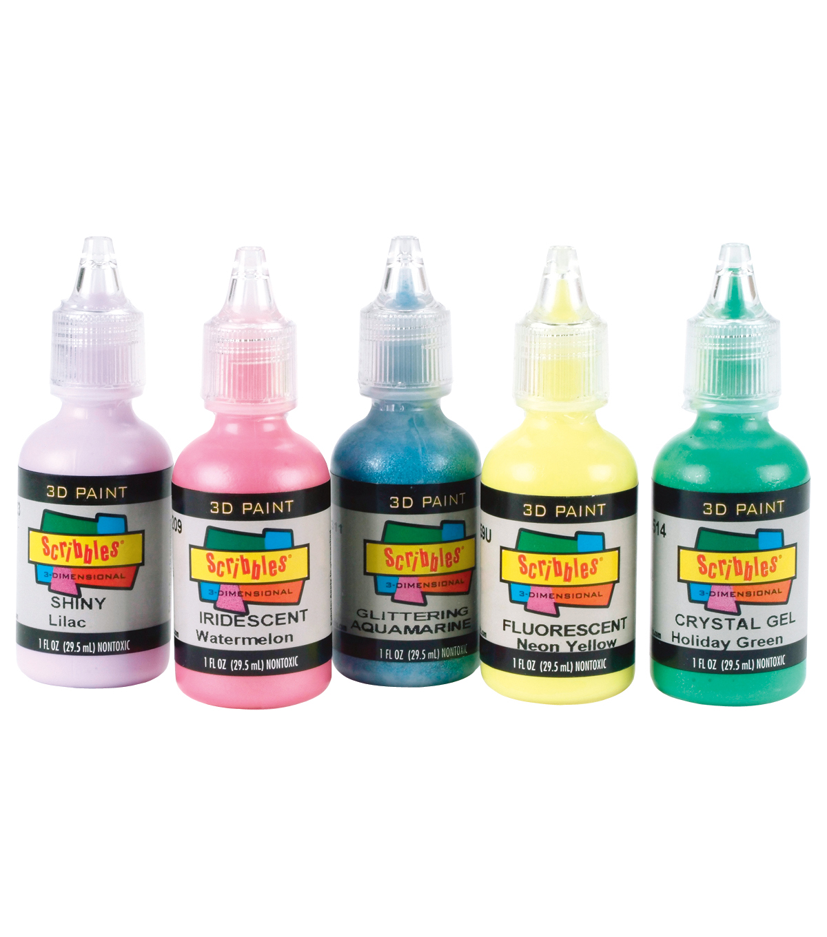 Scribbles 3D Fabric Paint 1oz - Shiny