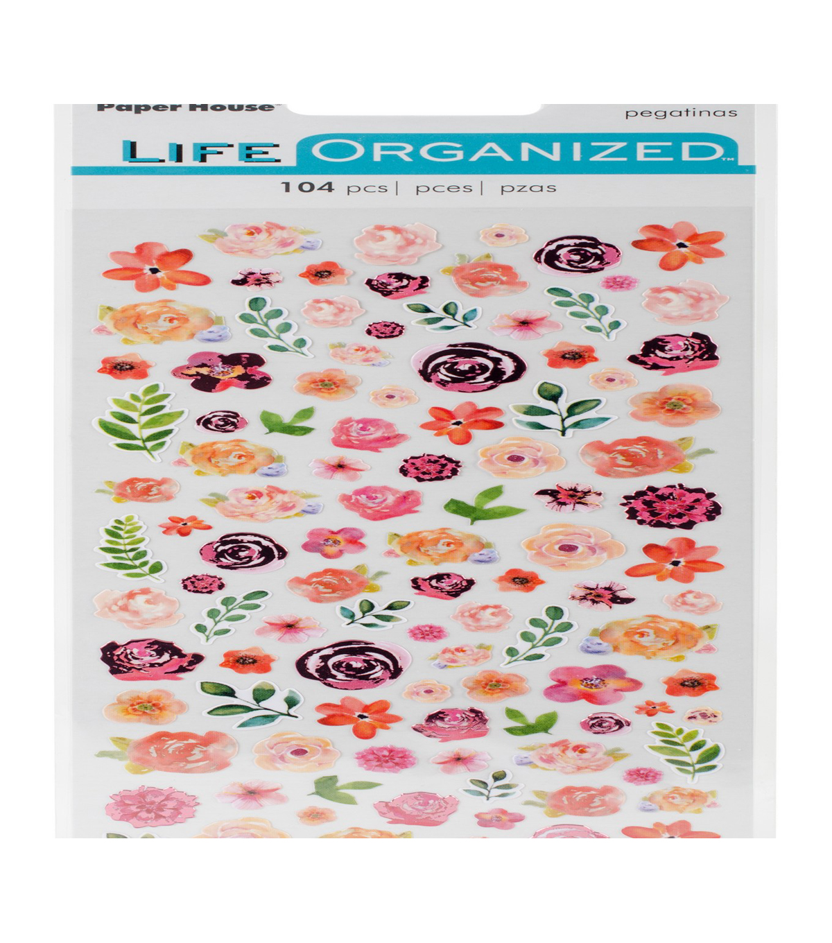 Life Organized 104 Micro Stickers-Flowers