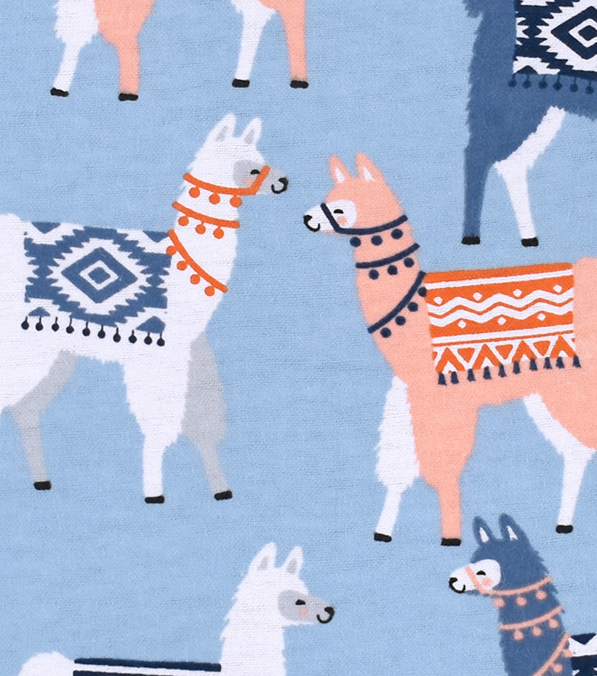 Snuggle Flannel Fabric -Tribal Llamas
