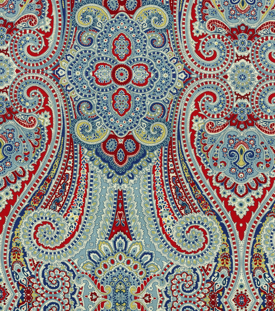 Waverly Lightweight Decor Fabric-Paisley Pizzazz Heritage