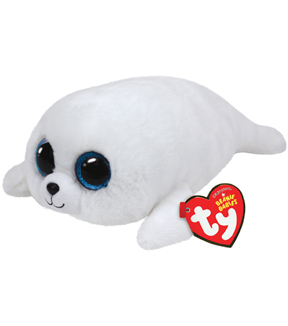 TY Beanie Boo Icy White Seal