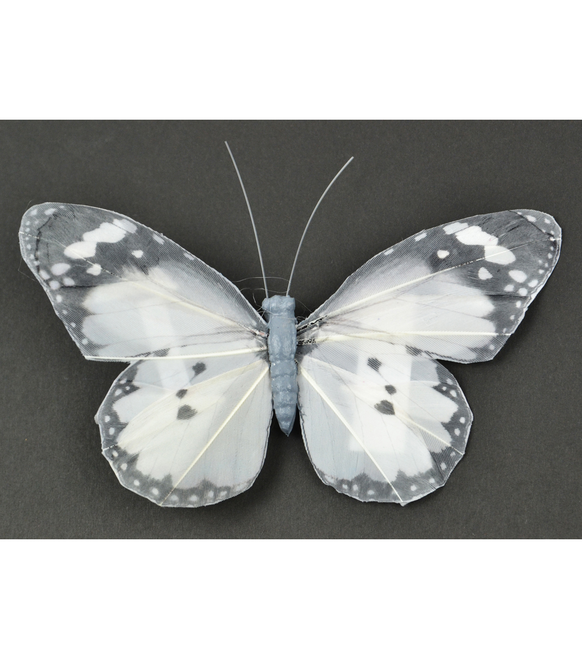 Butterfly with Clip 5\u0027\u0027-Gray