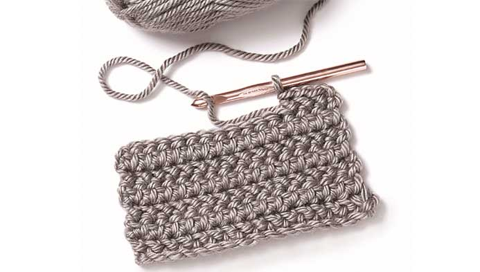 Herringbone Half Double Crochet Square