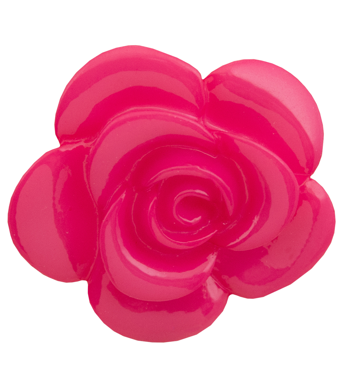 Flower Garden 1.38\u0027\u0027 Shiny Rose Button-Pink