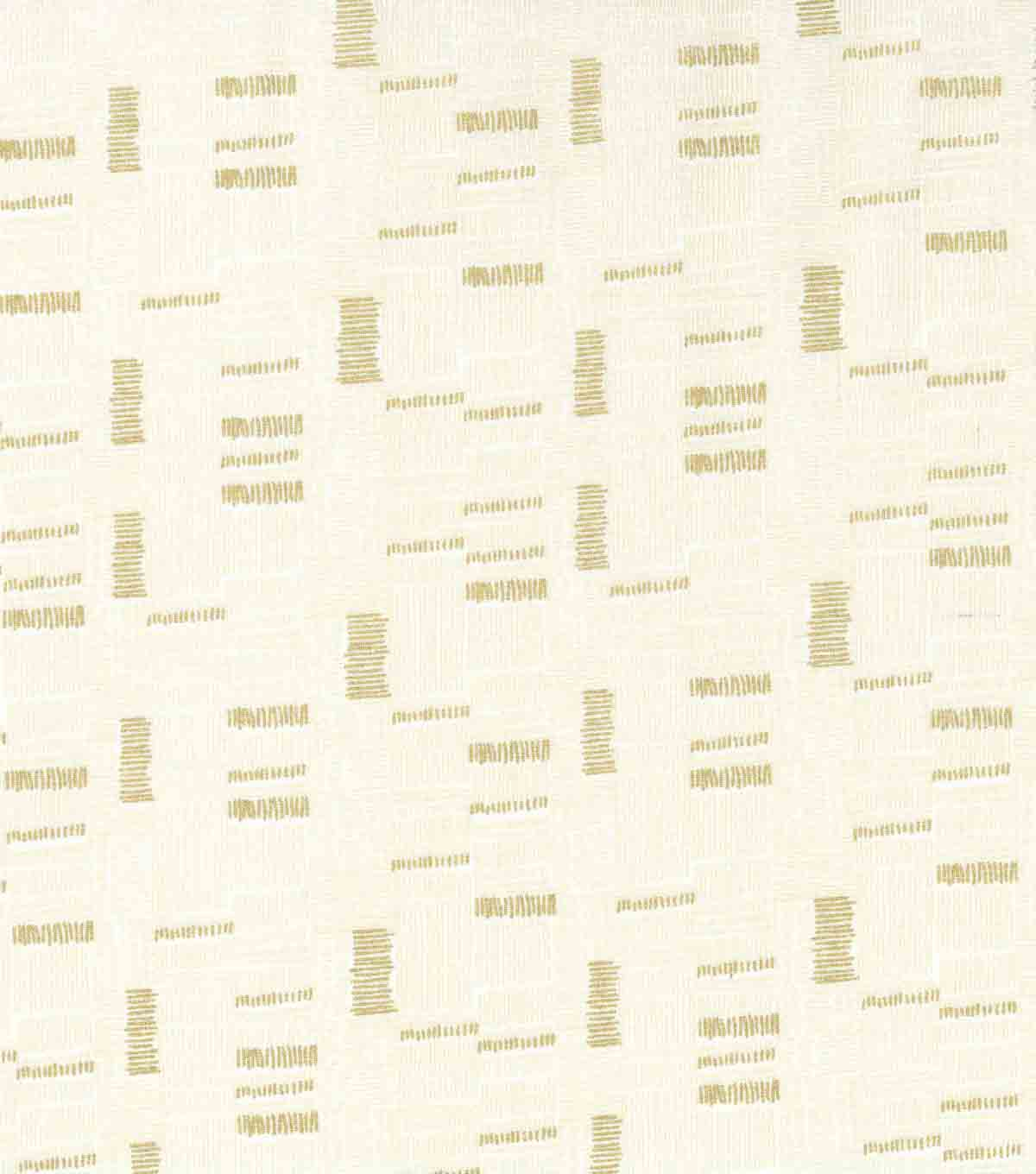 Keepsake Calico Cotton Fabric 43\u0027\u0027-Cream & Metallic Mini Square Lines