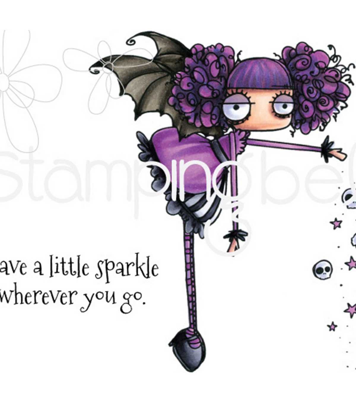 Stamping Bella 3 pk Rubber Cling Stamps-Oddball Sparkle Fairy