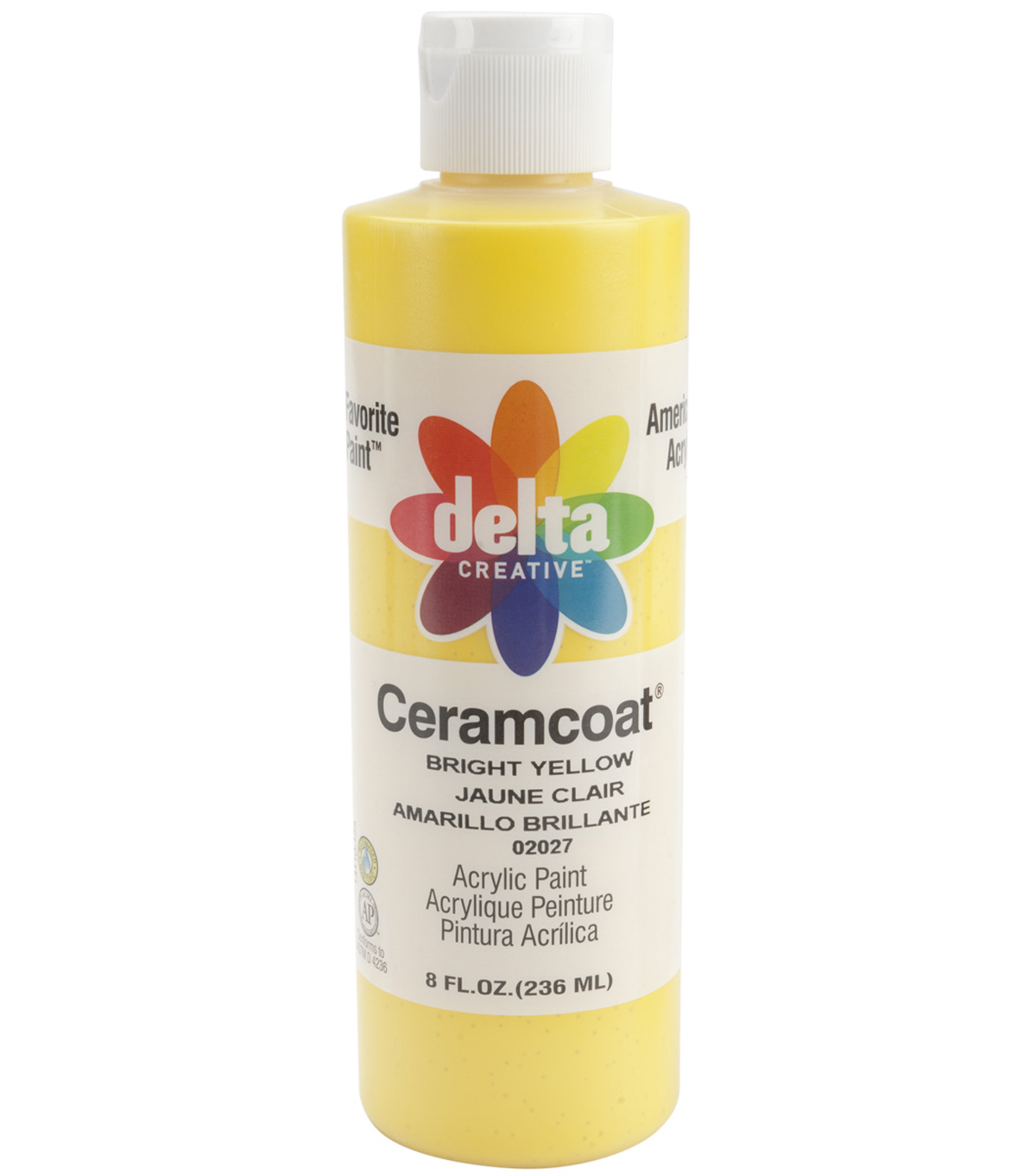 Delta Ceramcoat 8 fl. oz. Acrylic Paint, Transparent Bright Yellow