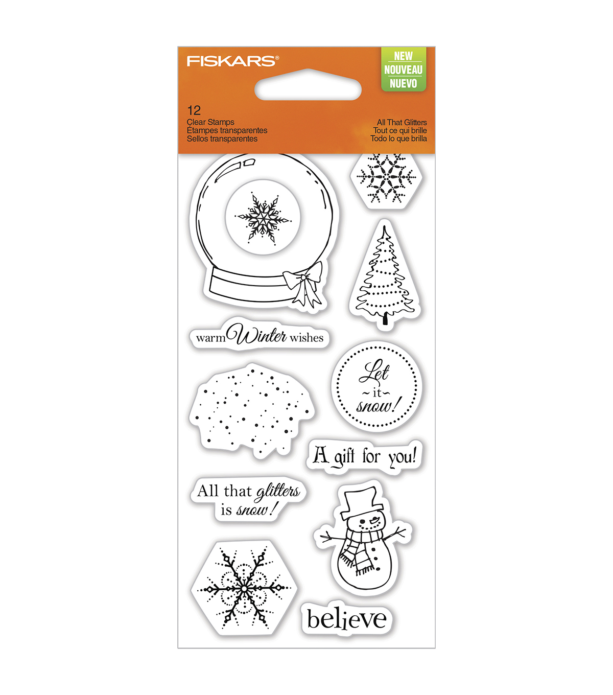 Fiskars Clear Stamps-All That Glitters 3x6