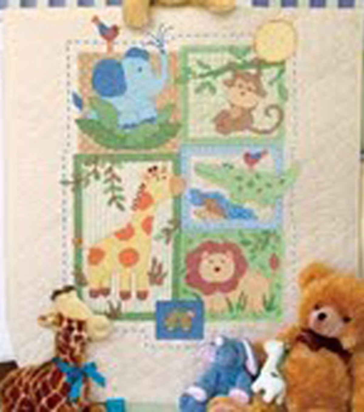 Dimensions Baby Hugs Savannah Quilt Stamped Cross Stitch Kit-34\u0022X43\u0022