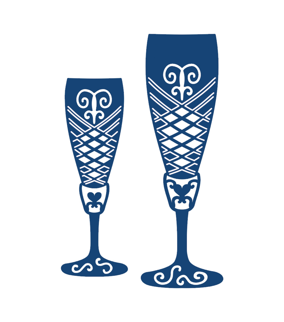 Tattered Lace Metal Die-Champagne Glasses