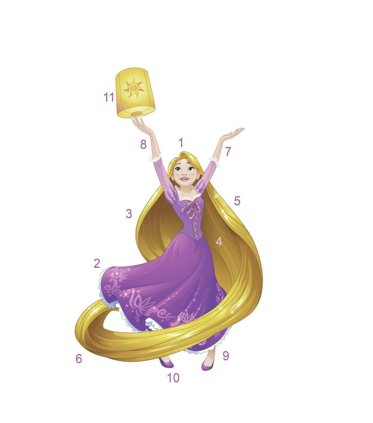 York Wallcoverings Wall Decals-Disney Princess Sparkling Rapunzel