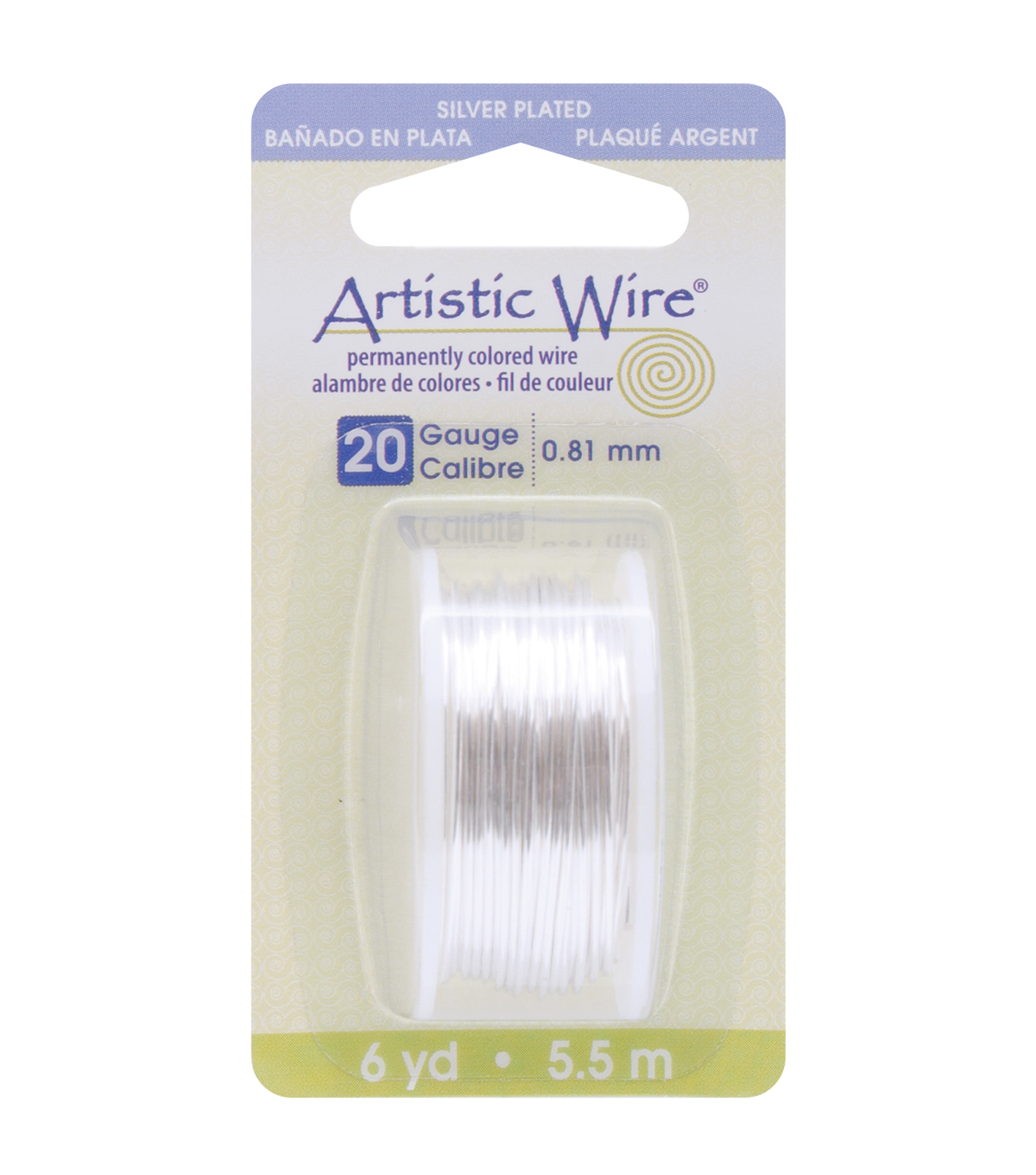 Artistic Wire Dispenser 6 Yards/Pkg-Silver 20 Gauge