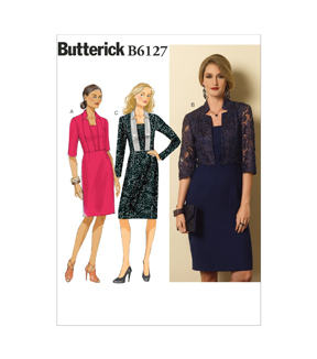 Butterick Pattern B6127-A50-Misses\u0027 Dress-6-8-10-12-14