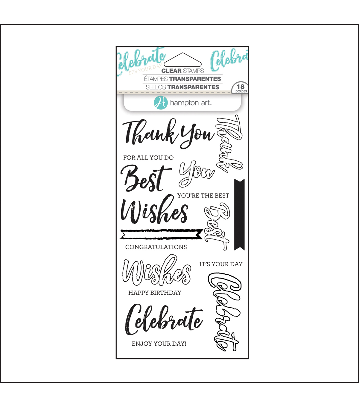 Hampton Art Layering Clear Stamp-Words