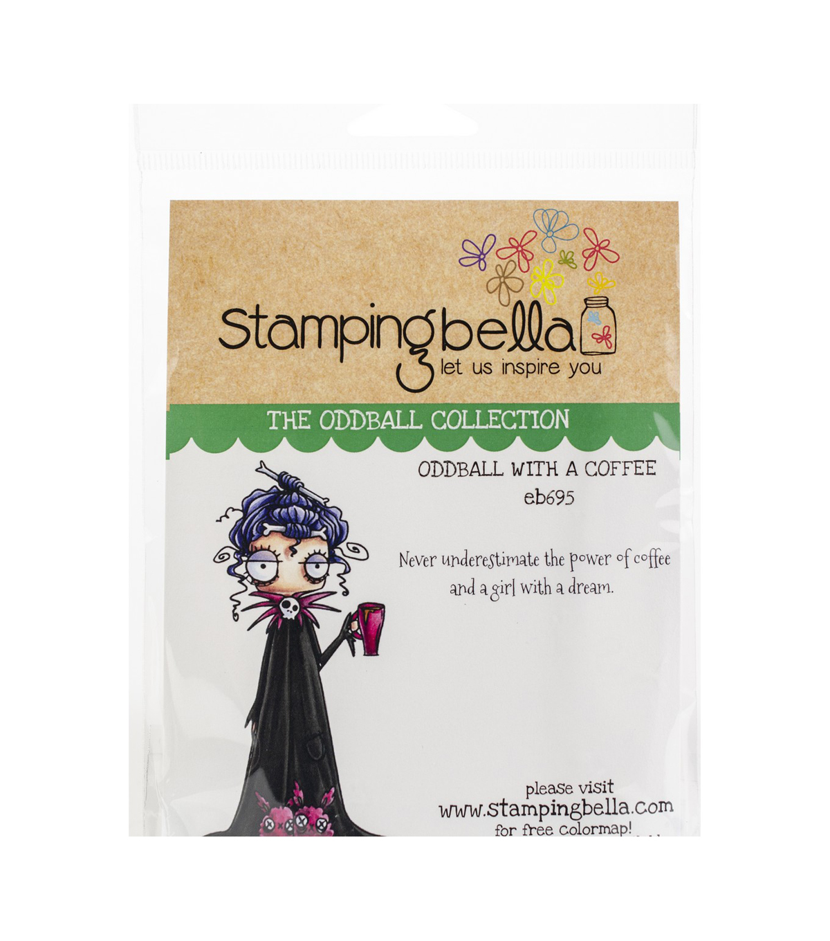 Stamping Bella 2 pk Rubber Cling Stamps-Oddball with a Coffee