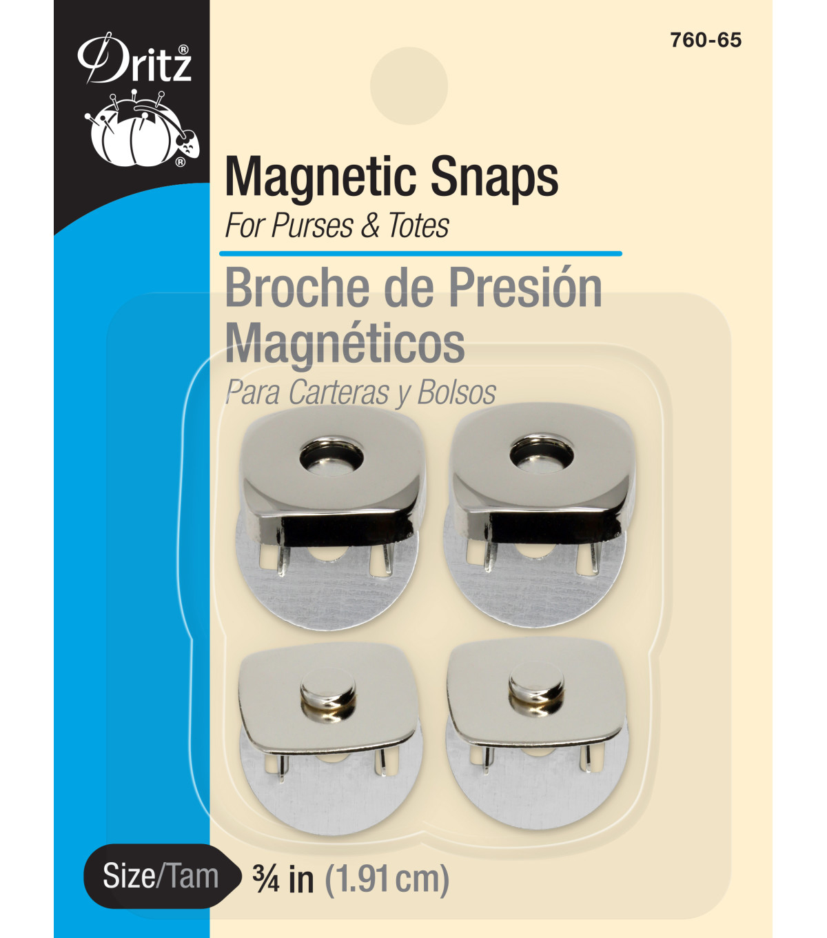 Prym Dritz Square Magnetic Snaps Nickel
