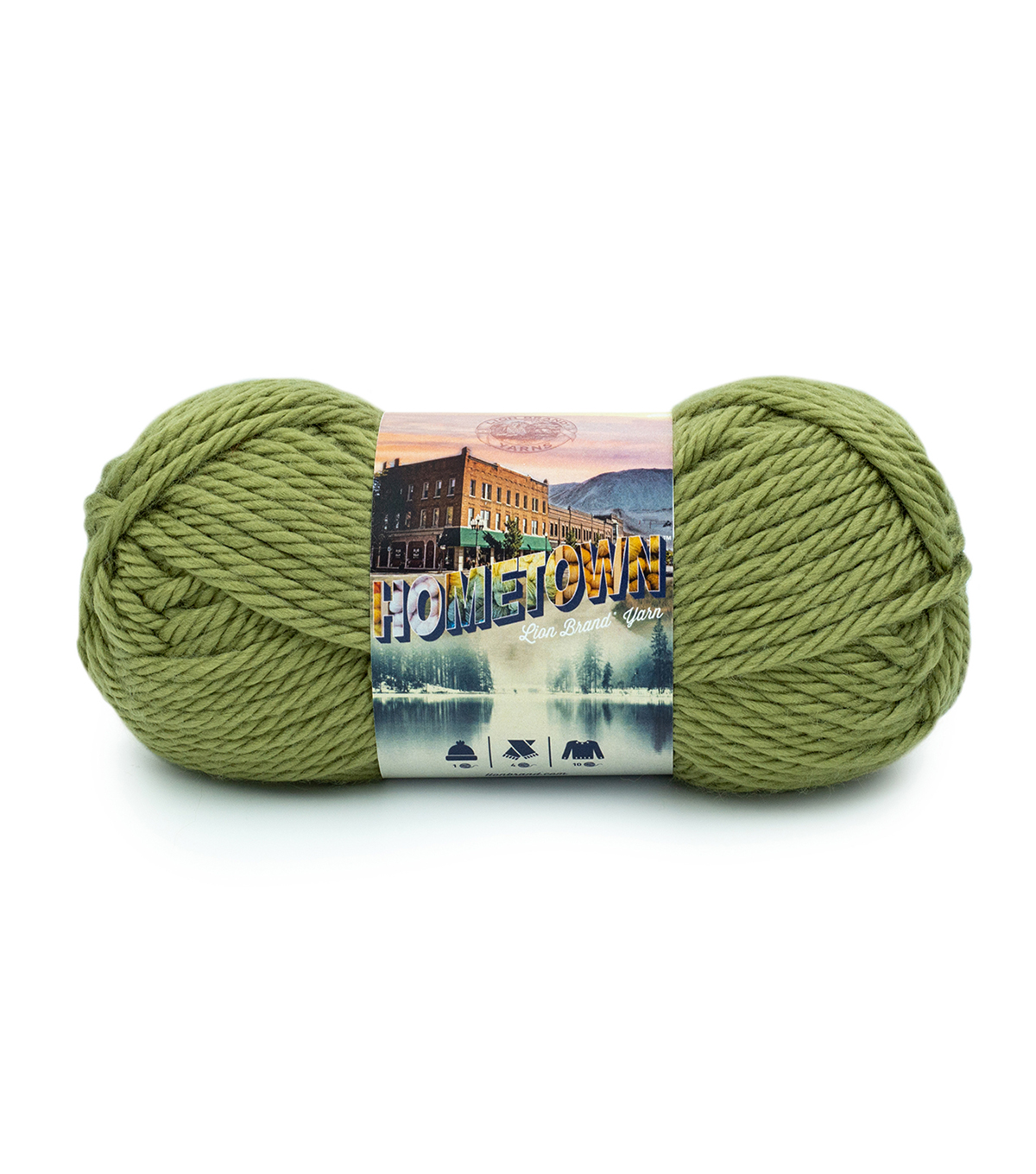 Knitting Yarn Brands : Lion Brand Hometown USA Yarn - New York White