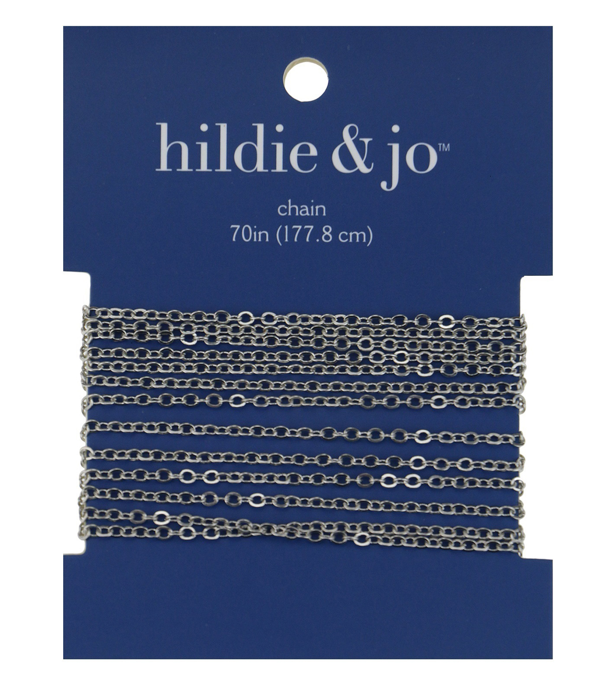 Blue Moon Cable Chain-70\u0022/Silver