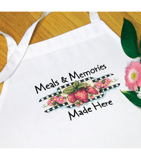 Dimensions Meals & Memories Apron Stamped Cross Stitch-One Size Fits All