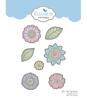 Elizabeth Craft Designs 7 pk Metal Dies-Color My Flowers