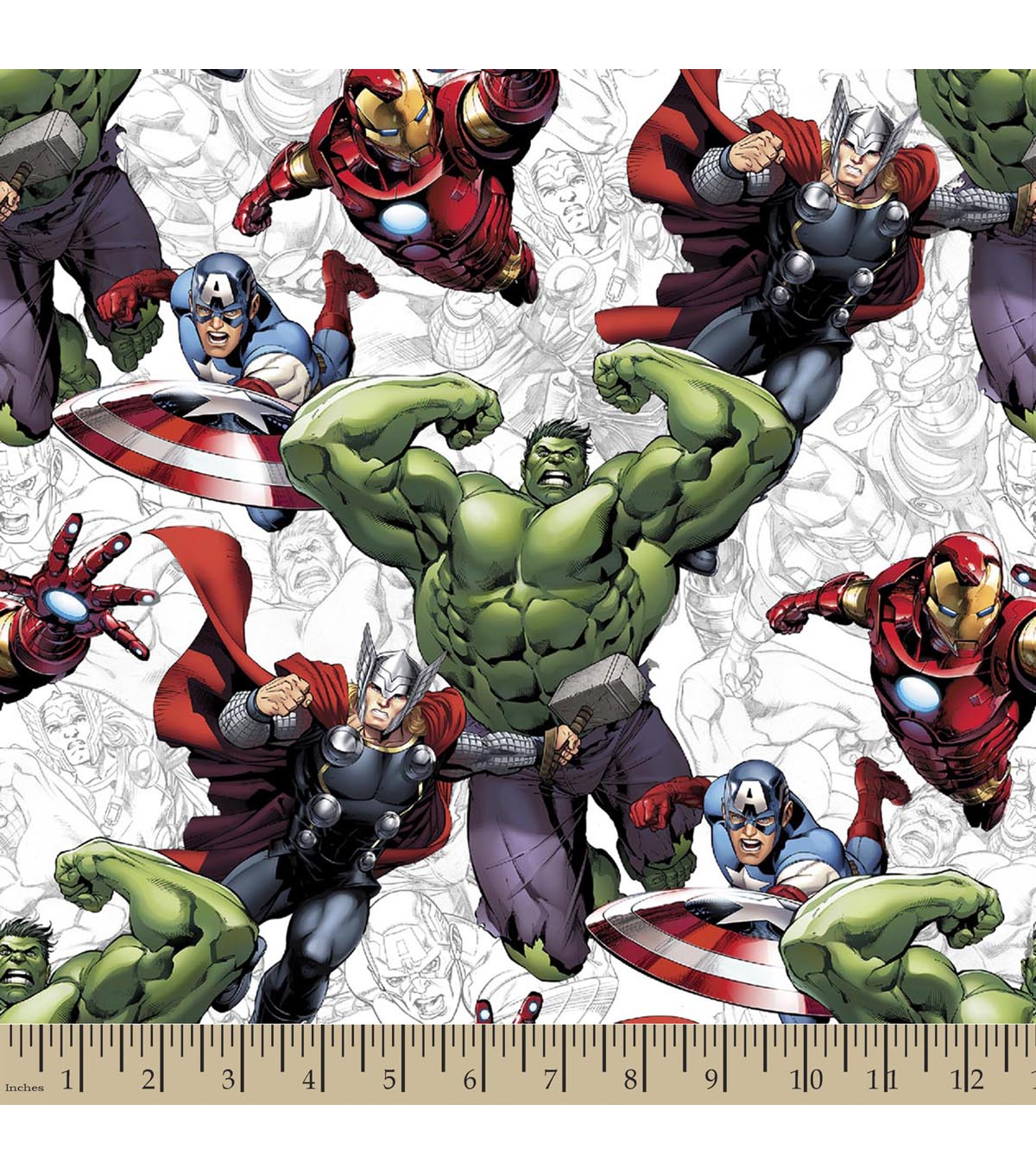 Marvel\u0027s The Avengers Print Fabric