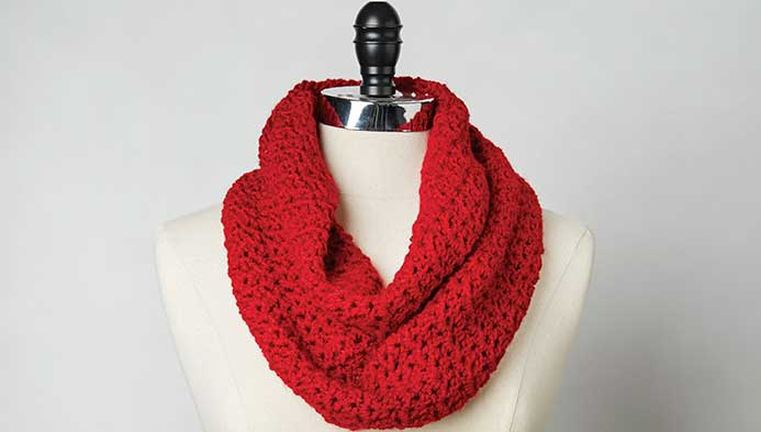 Crochet V-stitch Cowl