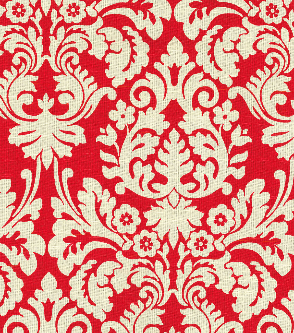 Waverly Lightweight Decor Fabric 54\u0022-Close Up/Scarlet