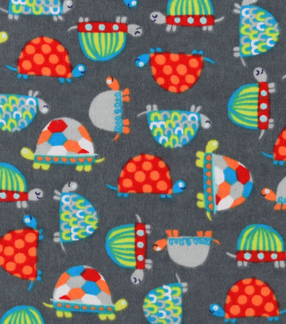 Snuggle Flannel Fabric -Bright Turtles