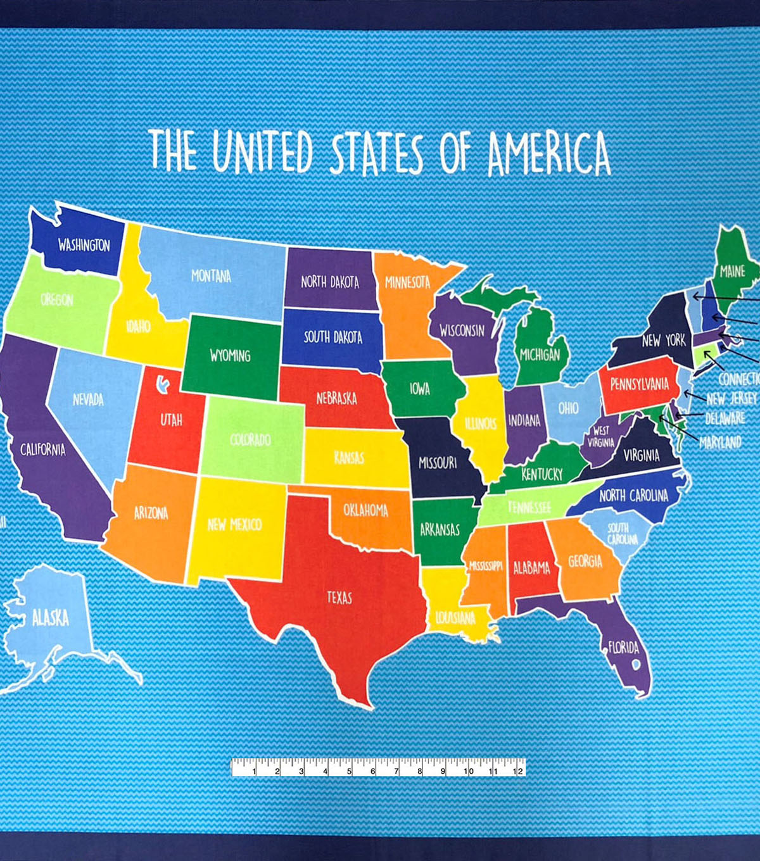 united states map fabric Novelty Cotton Fabric 44 United States Map Joann