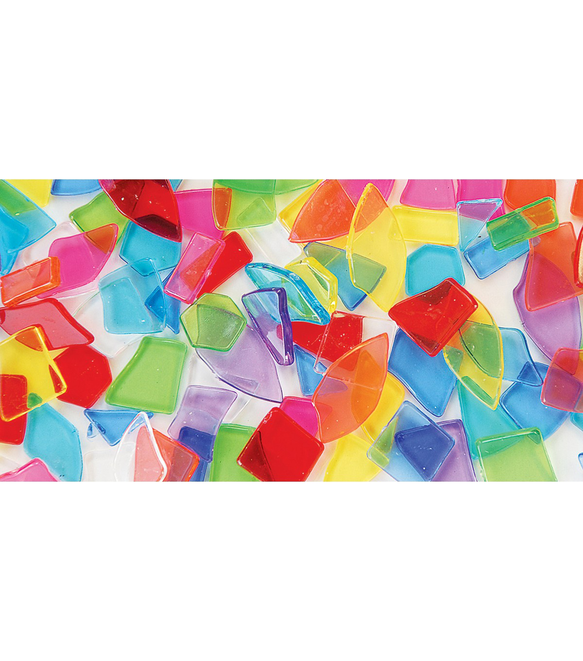 The Beadery Super Value Broken Mosaic Shapes-Translucent