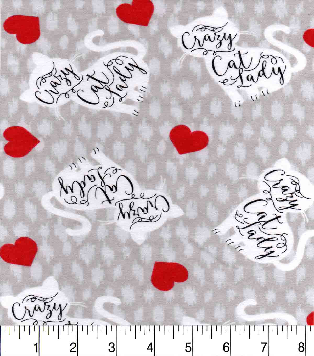 Snuggle Flannel Fabric -Crazy Cat Lady