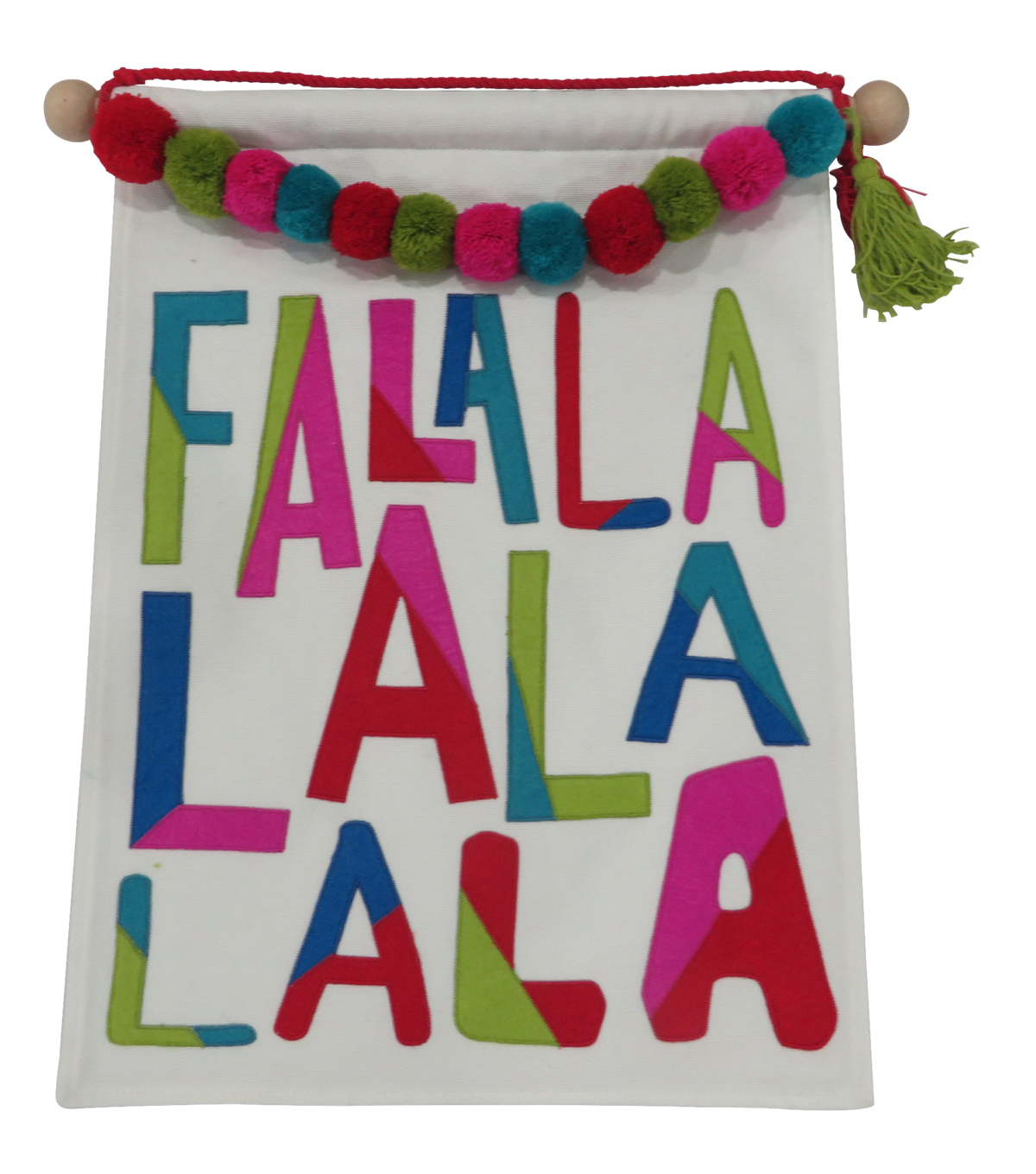 Maker\u0027s Holiday Christmas Ho Ho Ho Decor Banner-Fa La La