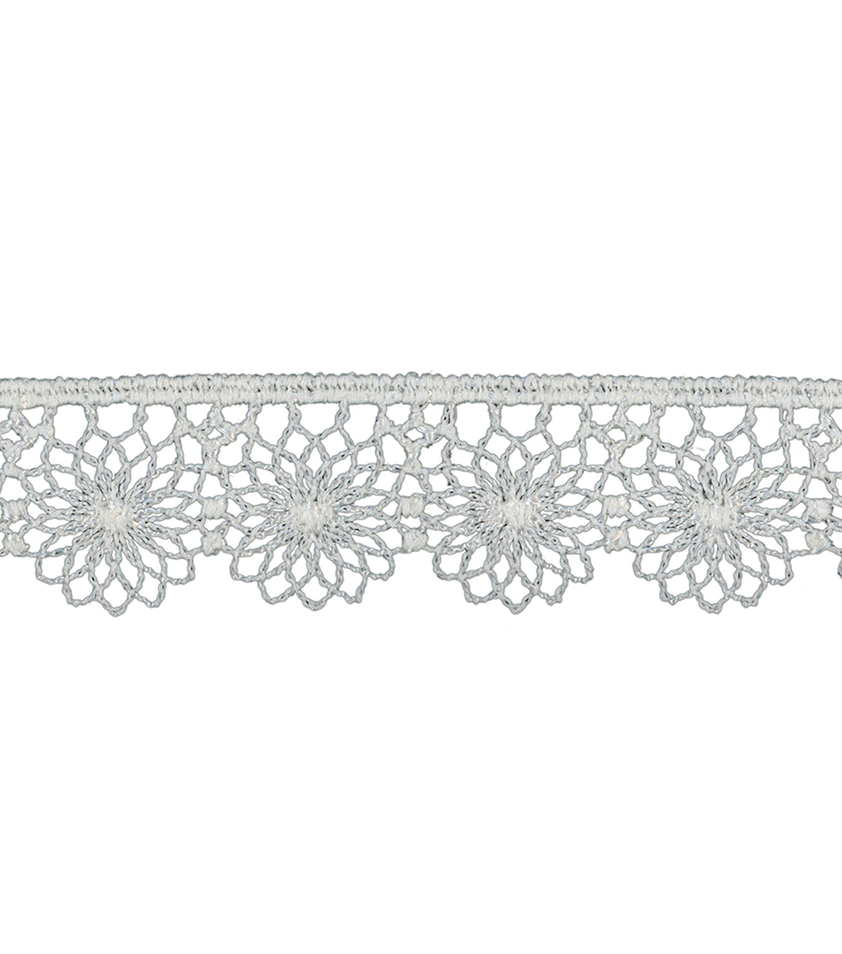 Simplicity Tattered Lace Trim 0.63\u0027\u0027-White