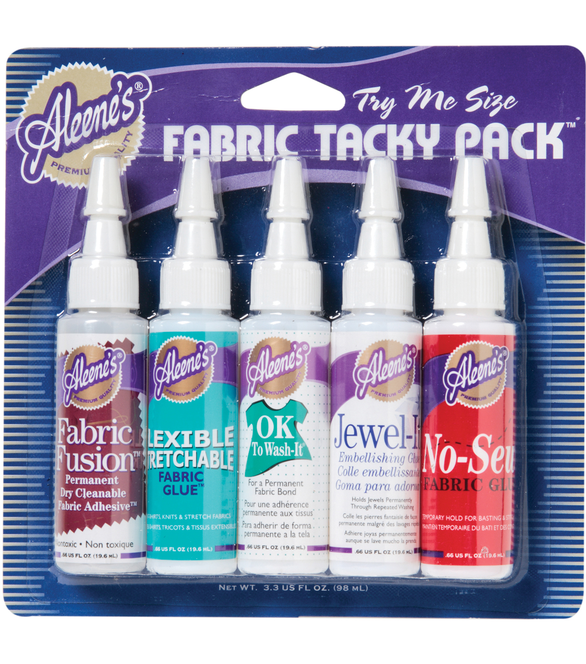 Aleene\u0027s 0.66 fl oz Try Me Size Fabric Tacky Pack