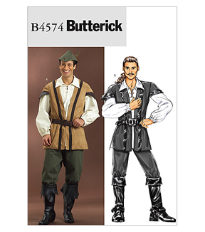 Butterick Pattern B4574-Vest, Laced Shirt, Pants and Hat, Size Xs-small-medium