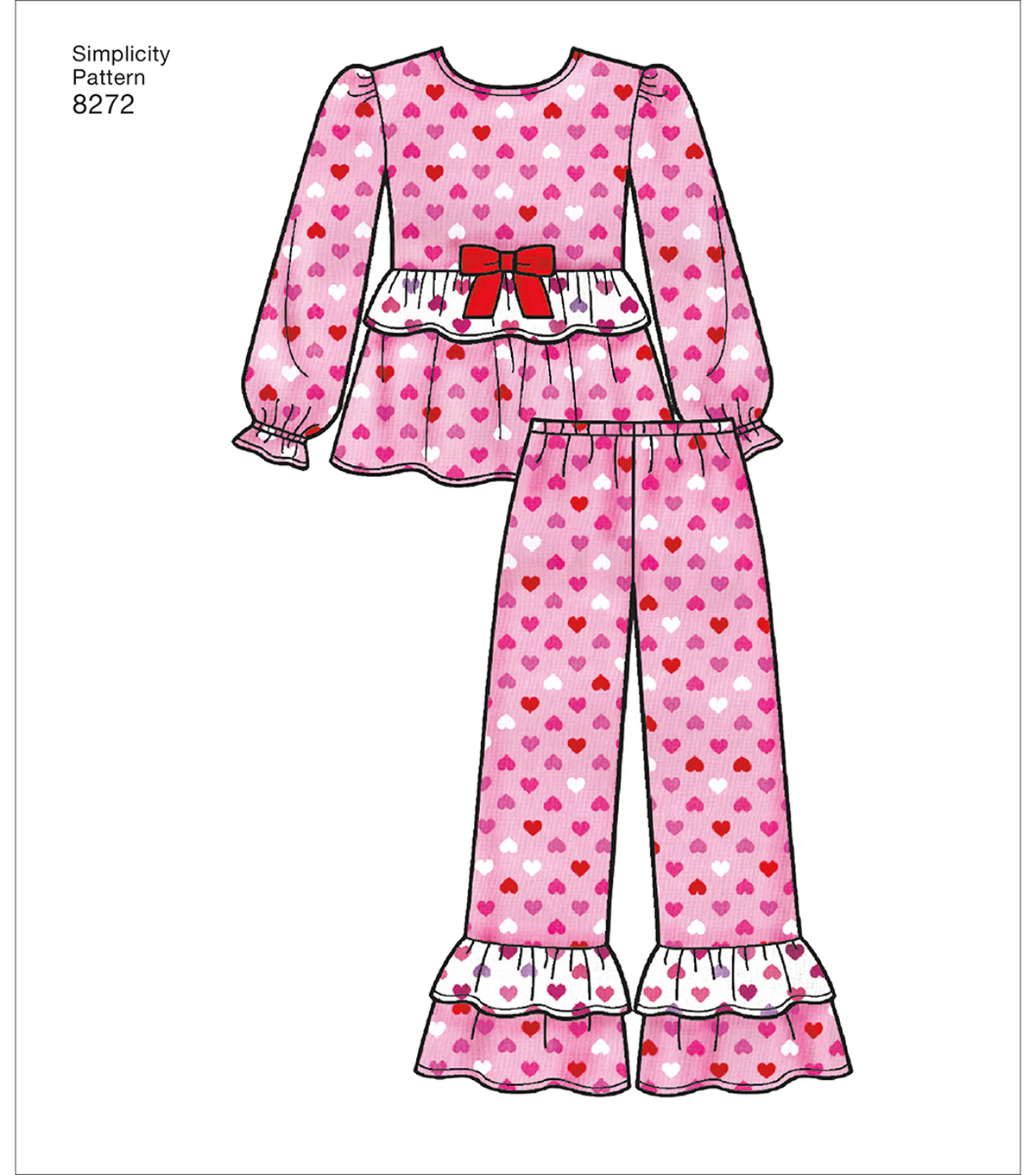 Simplicity Pattern 8272 Children\u0027s/Girls\u0027 Sleepwear-Size HH (3-6)