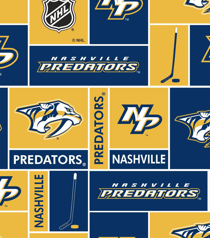 Nashville Predators Fleece Fabric 60\