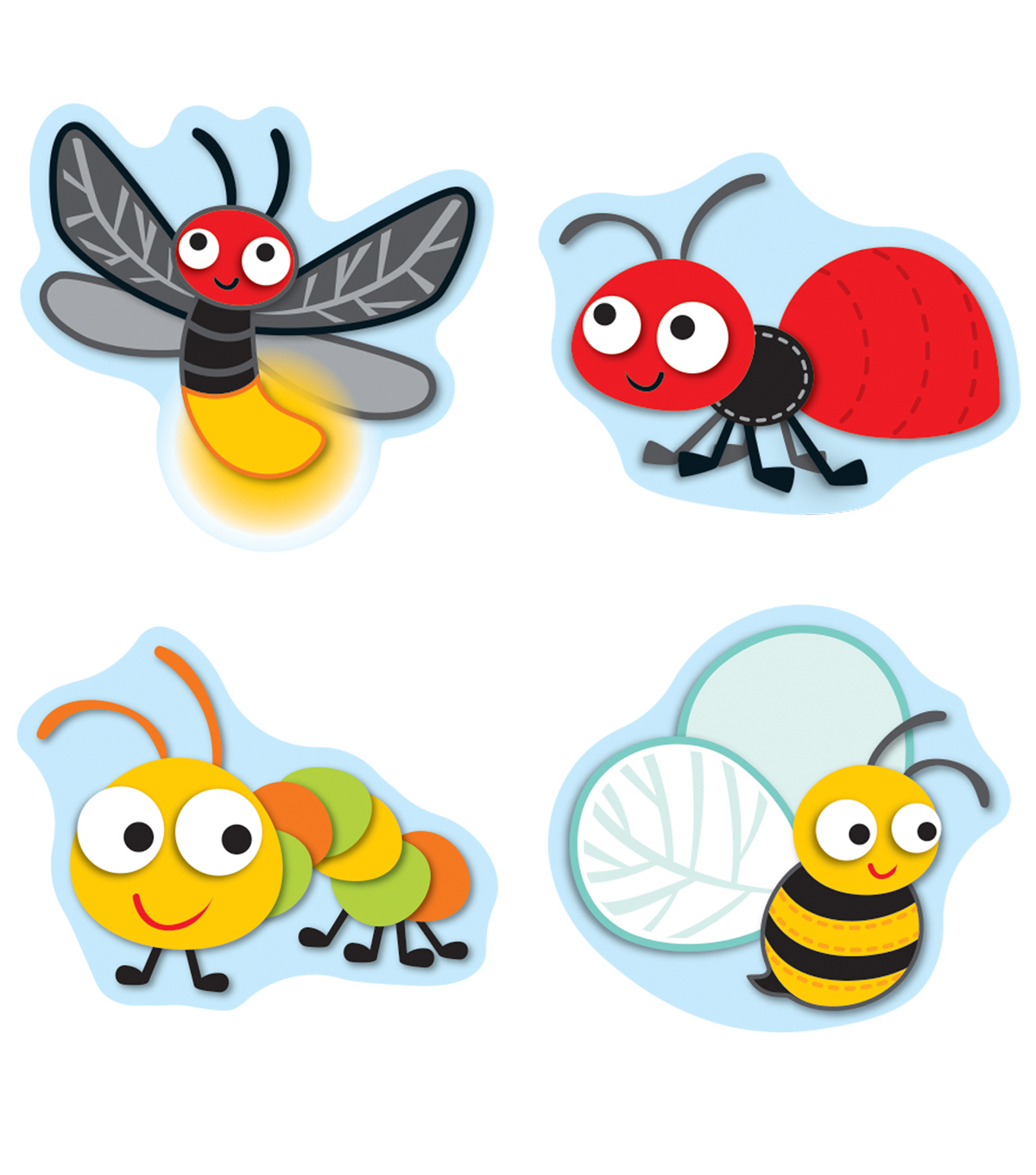 Carson Dellosa Buggy for Bugs Shape Stickers 12 Packs