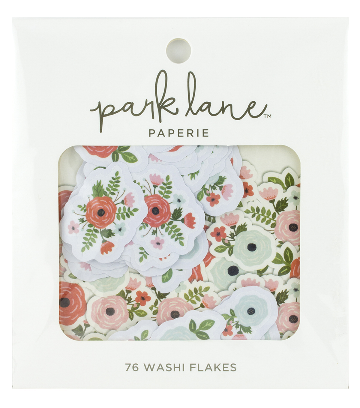 Park Lane Washi Flakes 76/Pkg-Floral