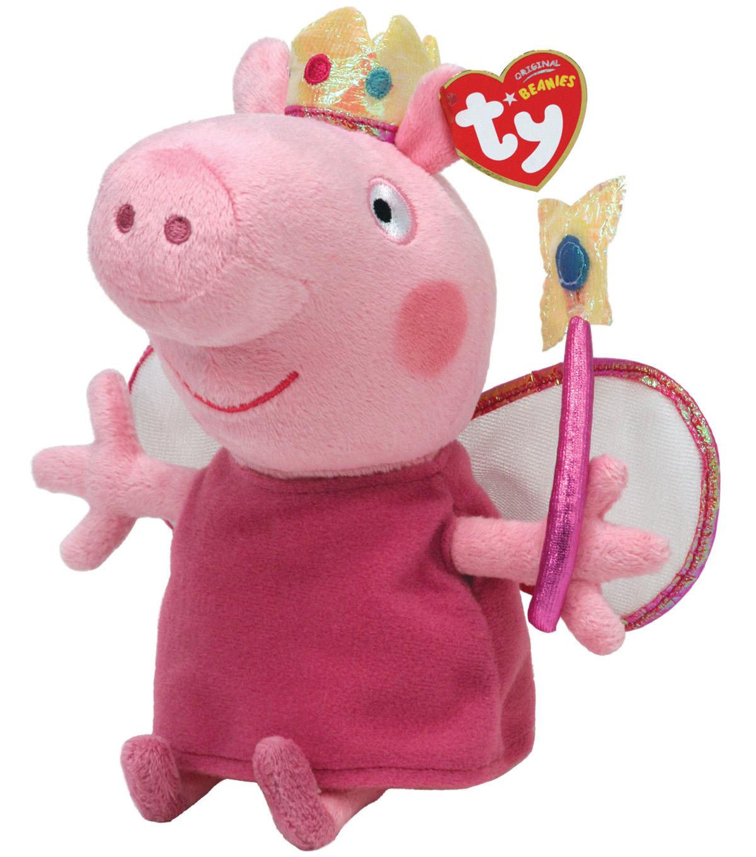 139417e7a64 Ty Peppa the Pig Princess Plush