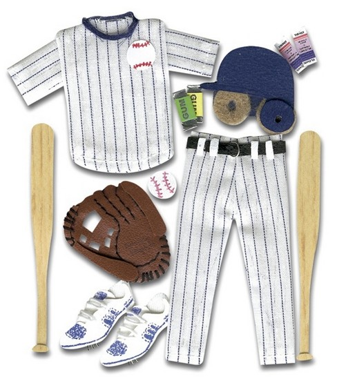 Jolee\u0027s Boutique Themed Ornate Stickers-Baseball