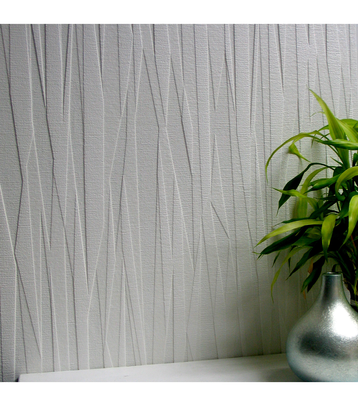 Folded Paper Paintable Textured Vinyl Wallpaper