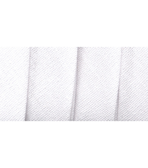 Wrights Extra Wide Double Fold Bias Tape, White