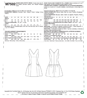 McCall\u0027s Pattern M7502 Misses\u0027/Miss Petite Drop-Waist Dress-Size 6-14