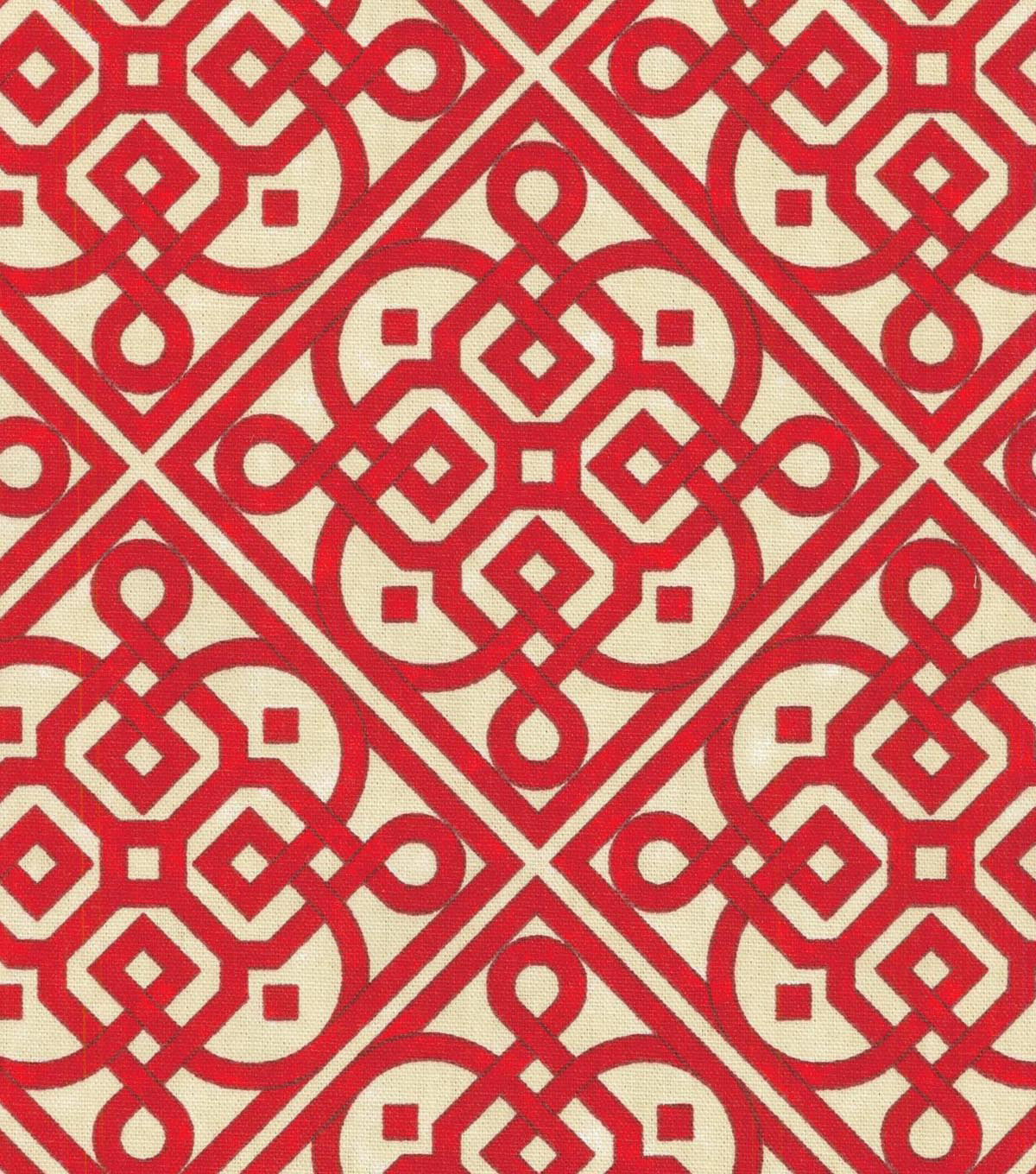 Waverly Lightweight Decor Fabric-Lace It Up Scarlet