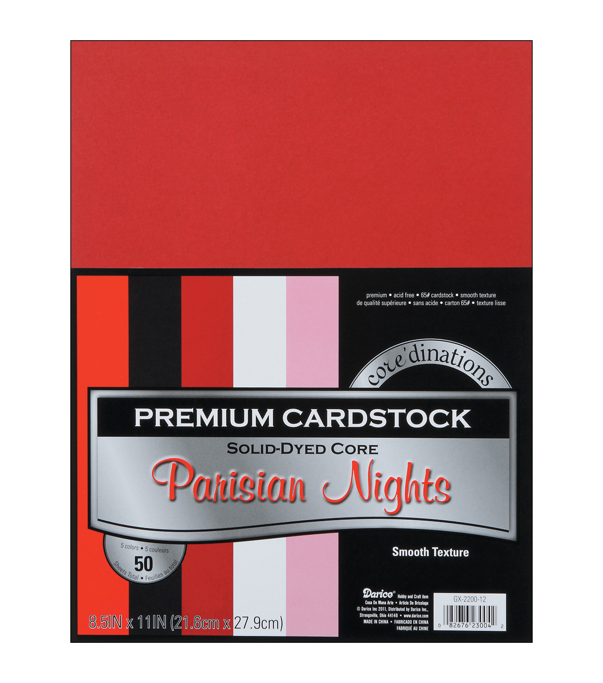 Cardstock 8.5\u0022X11\u0022 50/Pkg-Parisian Nights-Smooth