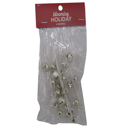 Blooming Holiday Christmas 8 pk Bell Pips-Silver